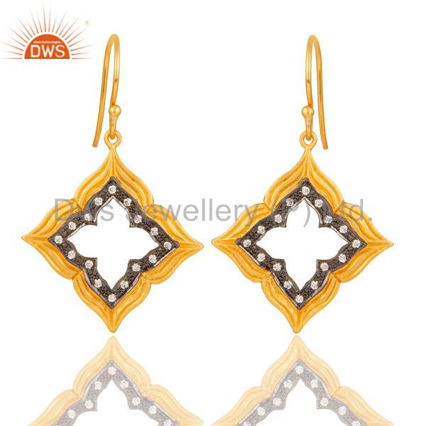 Gold Plated Handmade Brass Fashion Gemstone Earrings Manufacturers