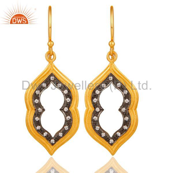 Handmade Gold Plated Brass Fashion Gemstone Earrings Manufacturers