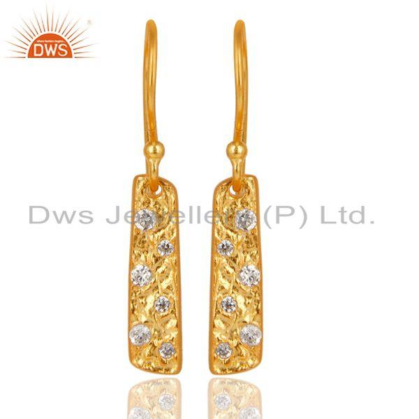 Handmade 18k Gold Plated Brass Fashion Zircon Earrings Manufacturer