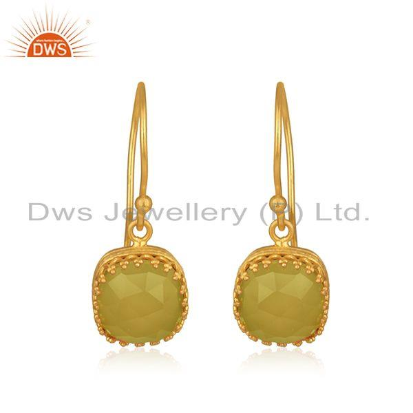 Yellow Moonstone Gold Plated Brass Fashion Earring Manufacturer