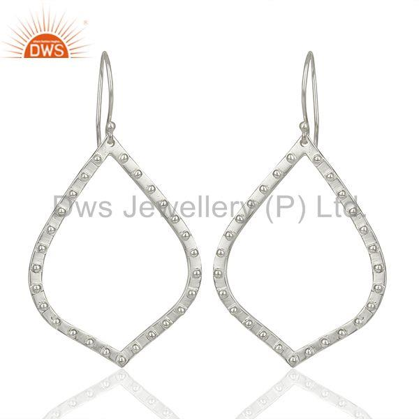 Silver Plated Brass Handmade Dangle Earrings Jewelry Manufacturer