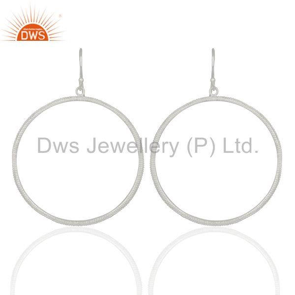 Round Brass Silver Plated Handmade Earrings Jewelry Manufacturers