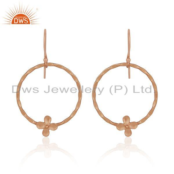 Rose Gold Plated Brass Fashion Handcrafted Earrings Wholesaler