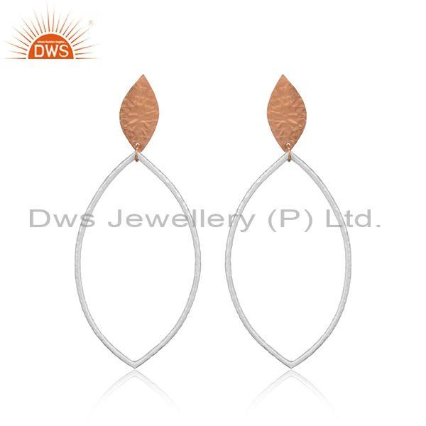 Handcrafted Textured Minimal Rose Gold on Fashion Earring