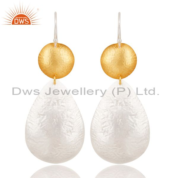 Handmade New Design Brass Drops Earrings Made In 14K Gold & Silver Plated