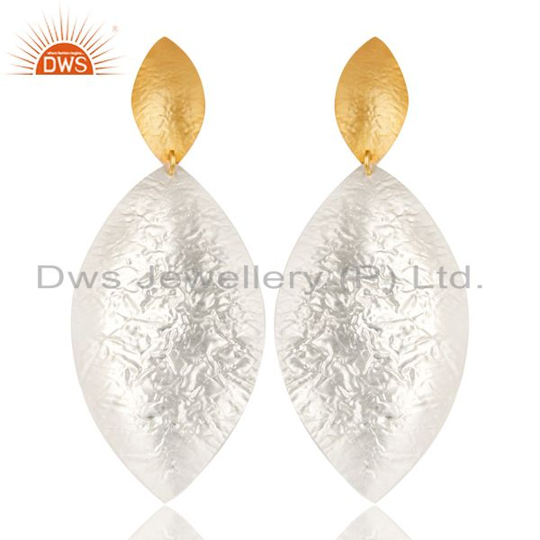 Beautiful Handmade Brass Drops Earrings Made In 14K Gold & Silver Plated