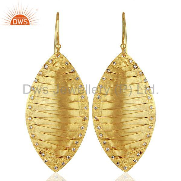 Hancrafted Brass Gold Plated Dangle Fashion Earrings Manufacturers