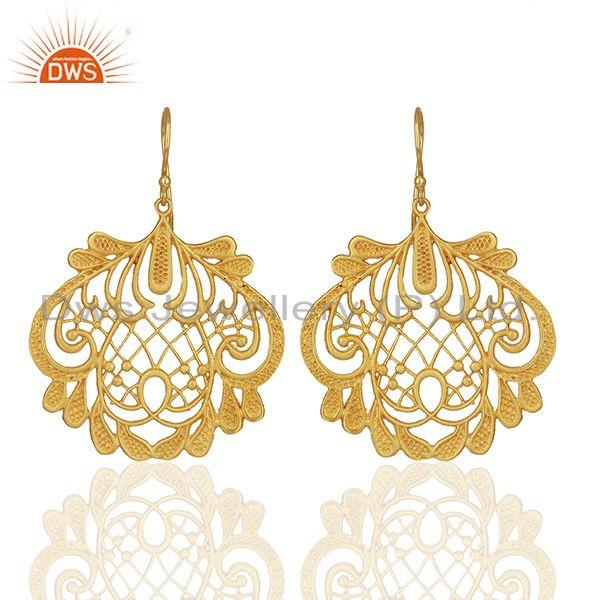 Wholesale Gold Plated Brass Traditional Earrings Jewelry Manufacturers