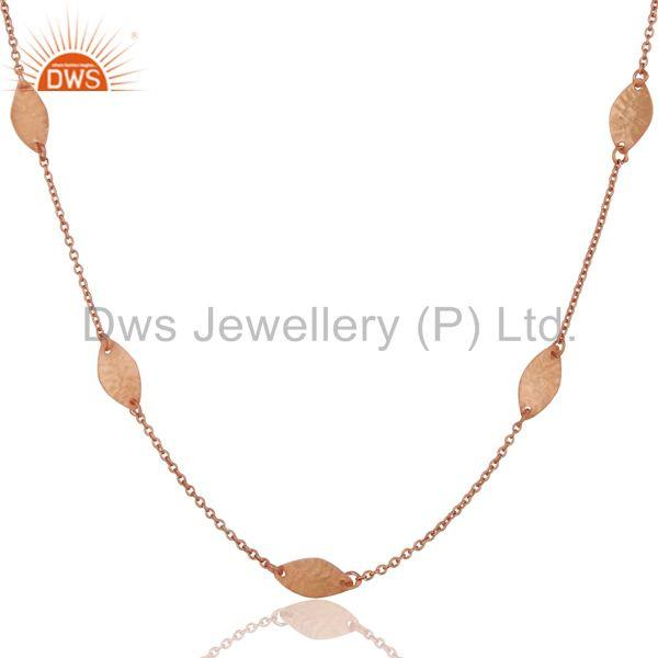 18k Rose Gold Plated Handmade Brass Necklace Jewellery With High Quality