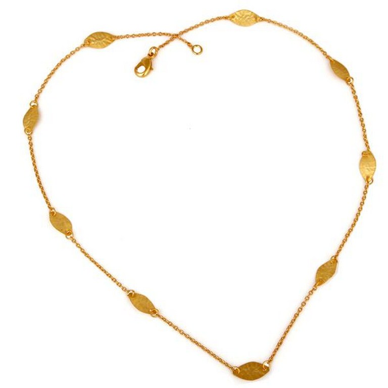 18k Gold Plated Handmade Brass Necklace Traditional Jewellery With High Quality