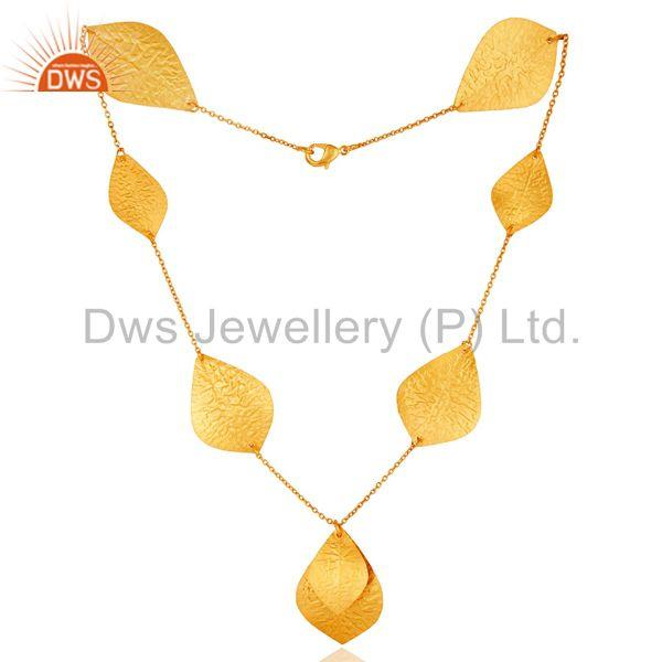 Handmade Gold Plated Brass Fashion Indian Design Necklace Manufacturer