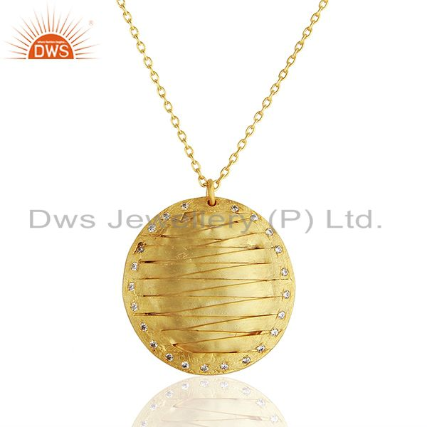 Handmade Brass Gold Plated Fashion Pendant Jewelry Manufacturers