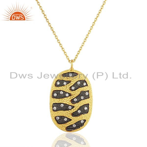 Handcrafted Brass Gold Plated Fashion Chain Pendant Wholesale