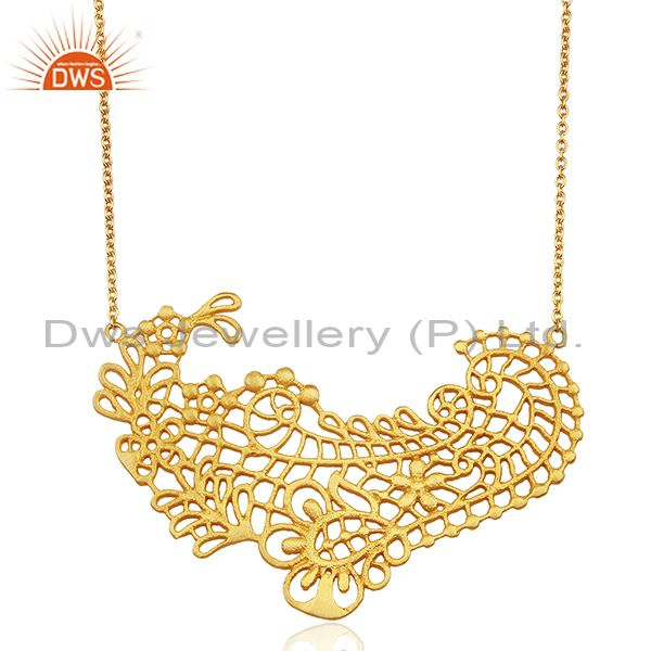 Paisley shaped lace Designer pendent Wholesale Jewelry