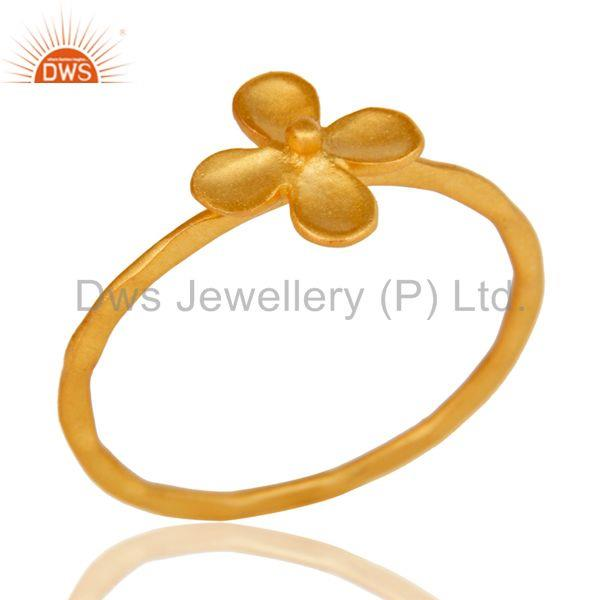 Lovely 18k Gold Plated Traditional Handmade Brass Stackable Ring