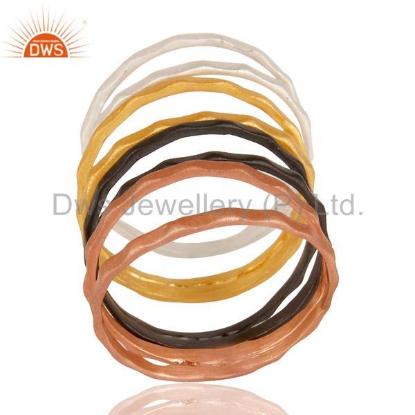 Handmade Multi Color Brass Fashion Round Band Rings Manufacturers