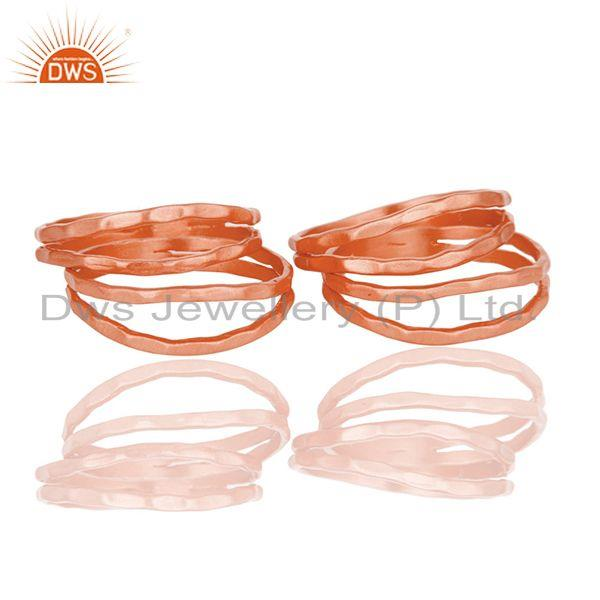 Rose Gold Plated Brass Handmade Stackable Band Ring Manufacturer Jaipur