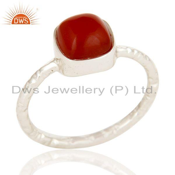Red Onyx cushion Studded Designer Stackalble Fashion Ring
