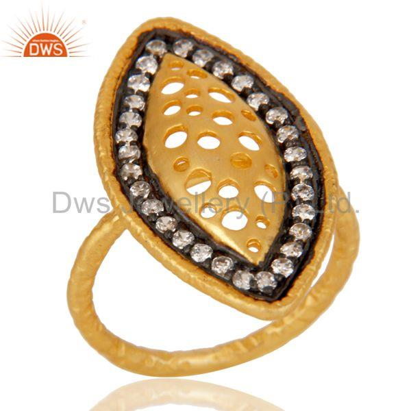 Cz Studded Art Designer Fashion Ring