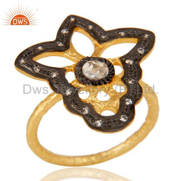 Butterfly Designer Cz Studded Designer Fashion Ring
