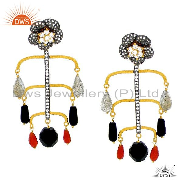 Unique Design 925 Silver Gemstone Earrings Manufacturer Supplier