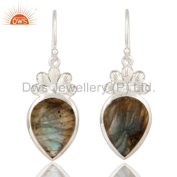 925 Sterling Silver Labradorite Gemstone Earrings