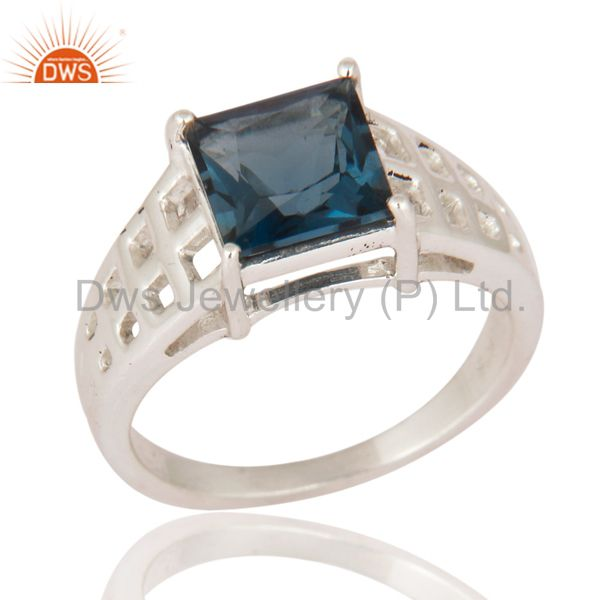 London Blue Topaz Engagement Wholesale Ring 92.5 Sterling Silver