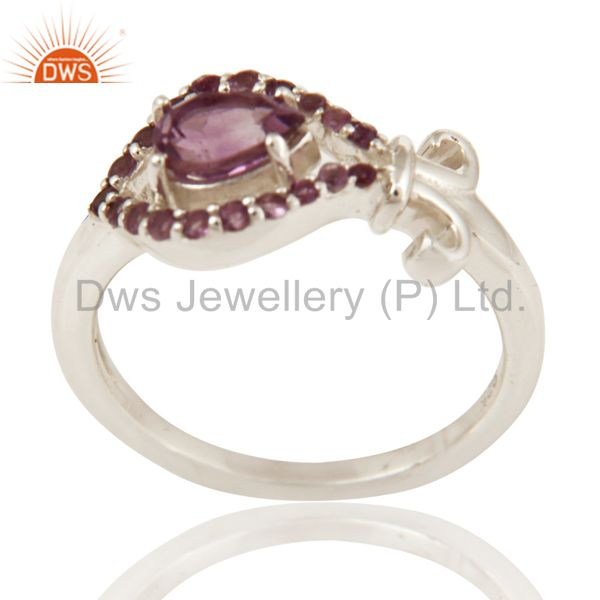 925 Sterling Silver Natural Amethyst Gemstone Ring
