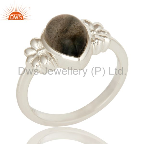 925 Sterling Silver Labradorite Semi Precious Gemstone Women Ring