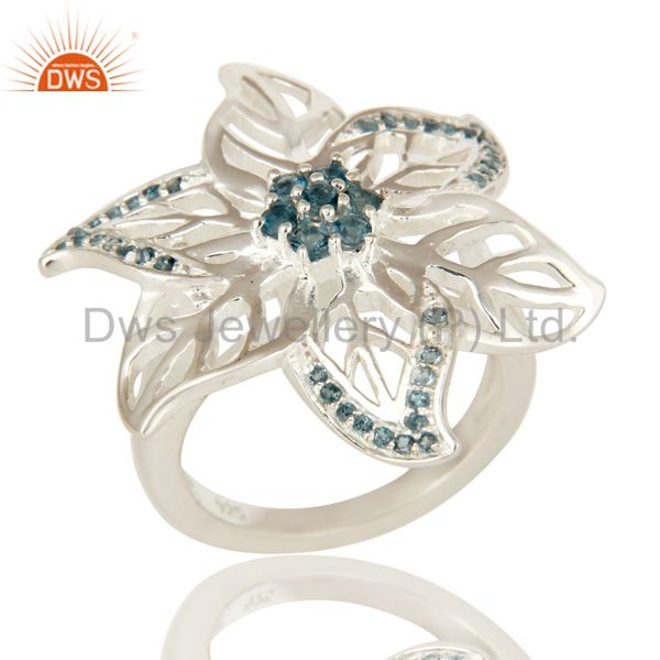 925 Sterling Silver London Blue Topaz Gemstone Ring Personalized Gift Jewelry