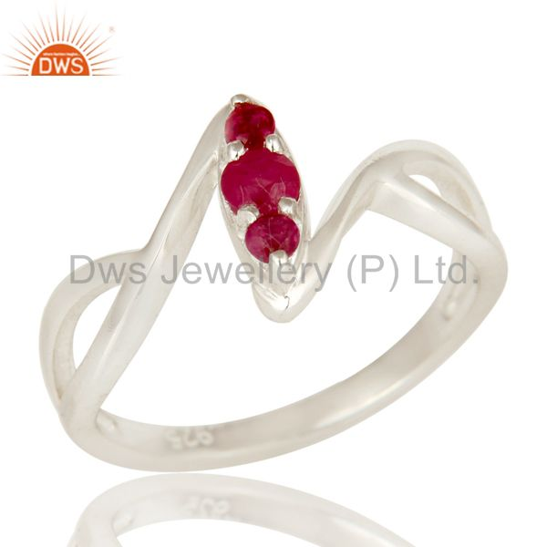 925 Sterling Silver Natural Ruby FIne Gemstone Statement Ring Jewelry