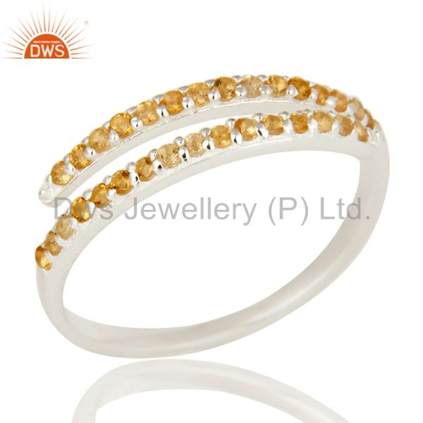 925 Sterling Silver Natural Citrine Gemstone Ladies Engagement Ring