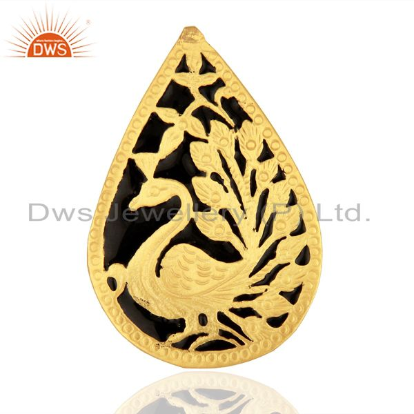 Gold Plated Brass Fashion Designer Enamel Ring Jewelry Supplier