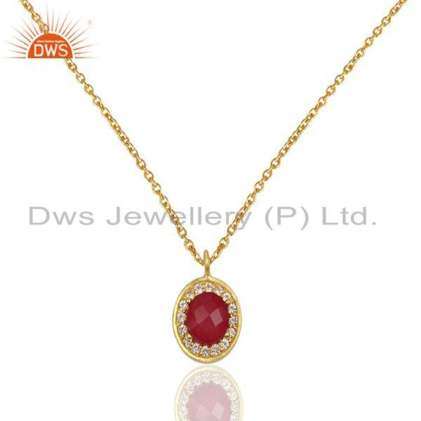 Designer 925 Silver Gold Plated Multi Gemstone Pendant Manufacturers