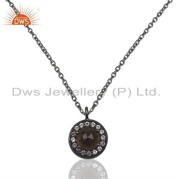 Black Rhodium Plated 925 Silver Pendant Jewelry Manufacturers