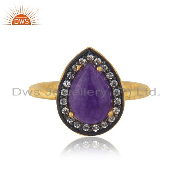 14k Gold Plated 925 Silver Multi Gemstone Ring Jewellery Manufacturer India