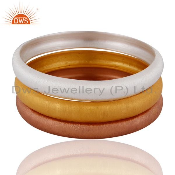 925 sterling silver three bangle set jewelry manufacturer supplier