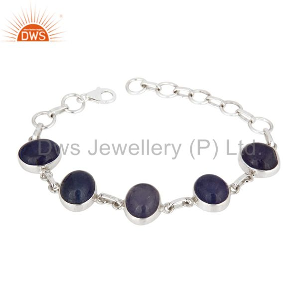 Handmade Solid 925 Sterling Silver Natural Tanzanite Gemstone Bracelets