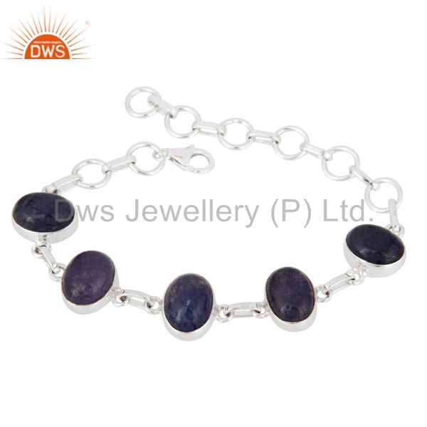 Handmade Sterling Silver Natural Tanzanite Gemstone Bracelet