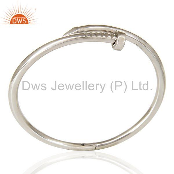 Screw style cuff solid sterling silver cuff band bangle