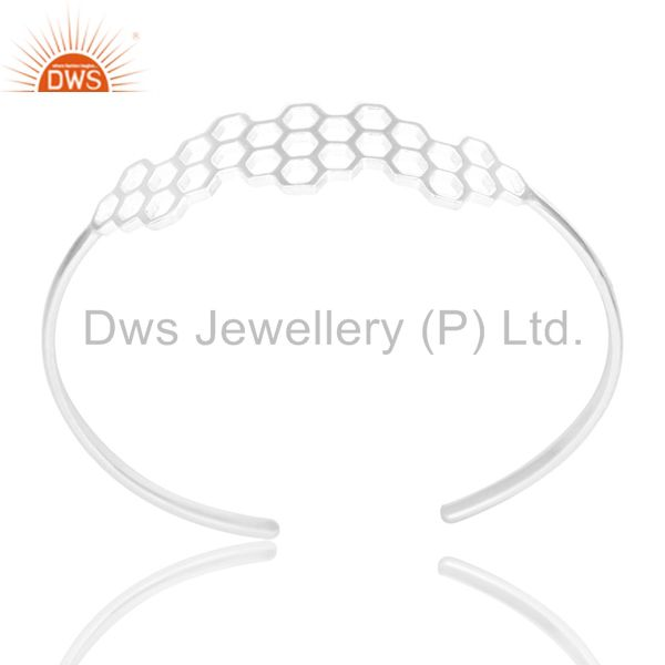 Mind blowing solid silver handmade new fashion openable palm bangle