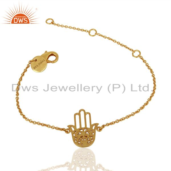 Gold Plated Hamsa Charm Fashion Bracelet Jewelry Manufacturer