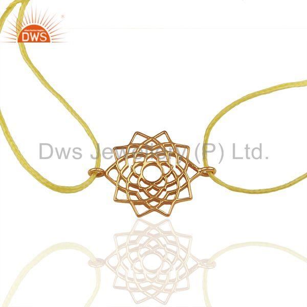 92.5 Sterling Silver Charm Yellow Thread Bracelet Manufacturer