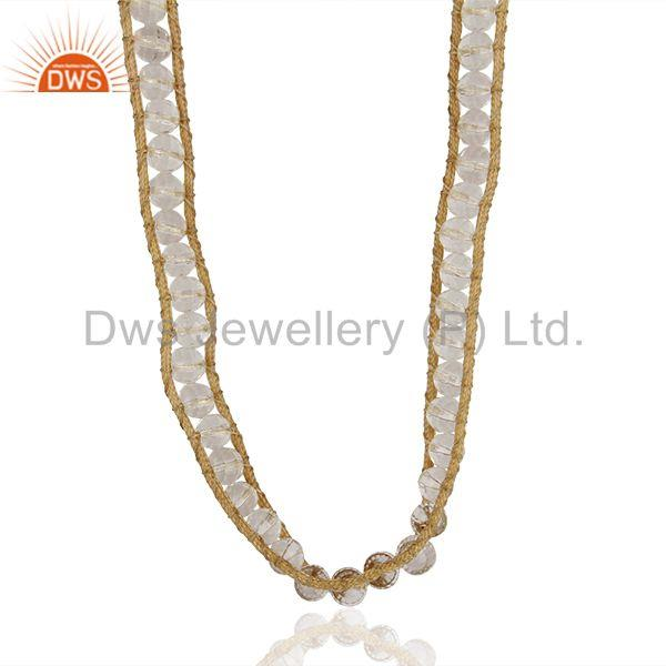 Round crystal quartz beads bracelet wholesale supplier from india