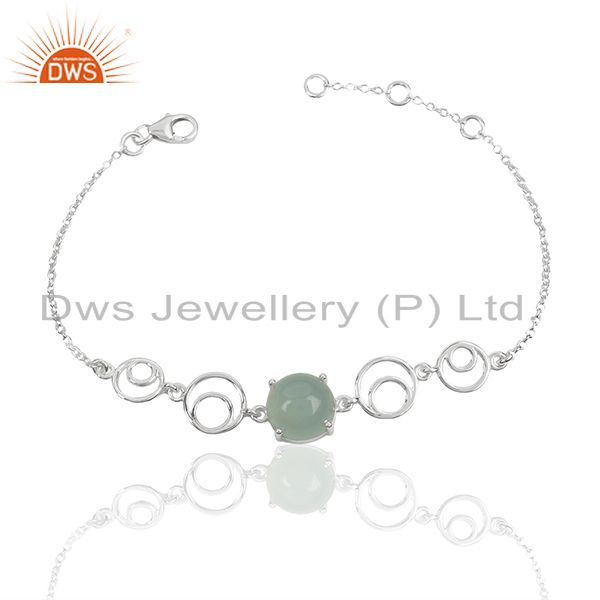 Circle design 925 sterling silver girls bracelet manufacturer