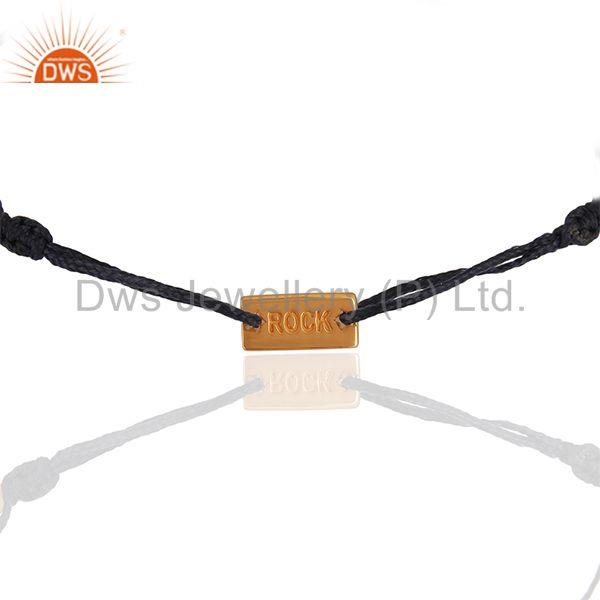 Rose Gold Plated Engraved Rock 925 Silver Bracelet Manufacturers