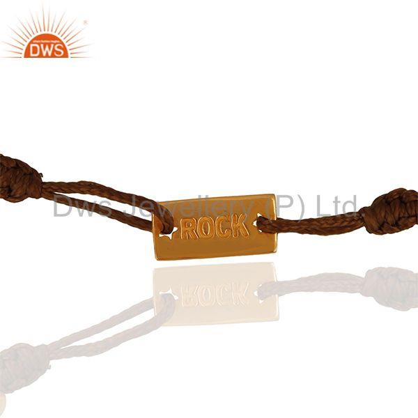 Rose Gold Plated 925 Silver Customized Adjustable Bracelet Suppliers