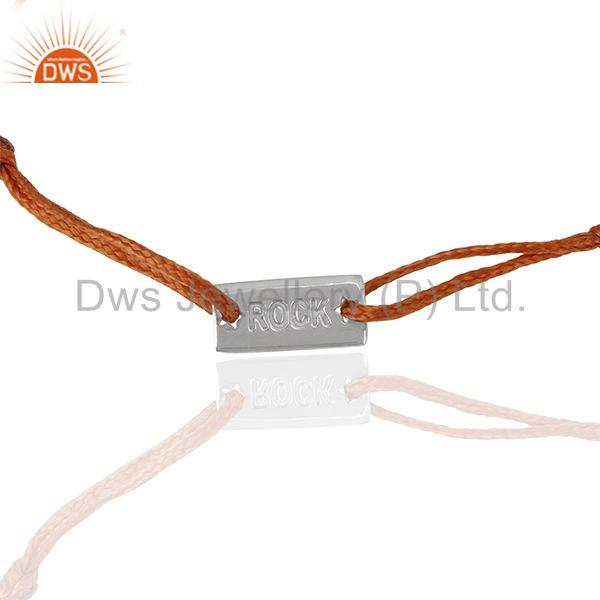 92.5 sterling silver orange threat adjustable bracelet manufacturers