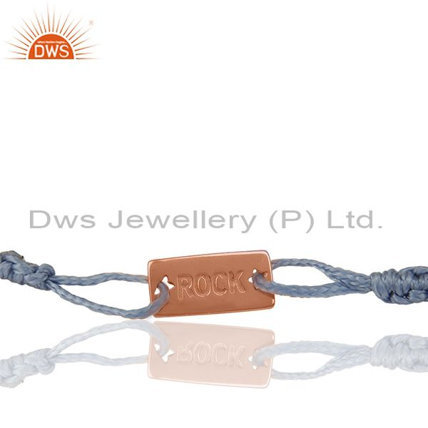 Handmade Rose Gold Plated 925 Silver Adjustable Bracelet Manufacturers