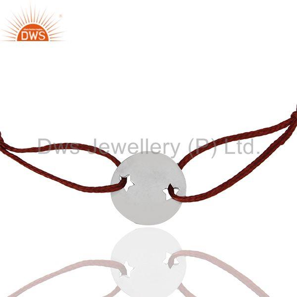 925 Sterling Silver Adjustable Red Macrame Bracelet Manufacturers